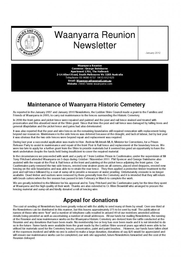 Waanyarra Reunion Newsletter January 2012lr_Page_1