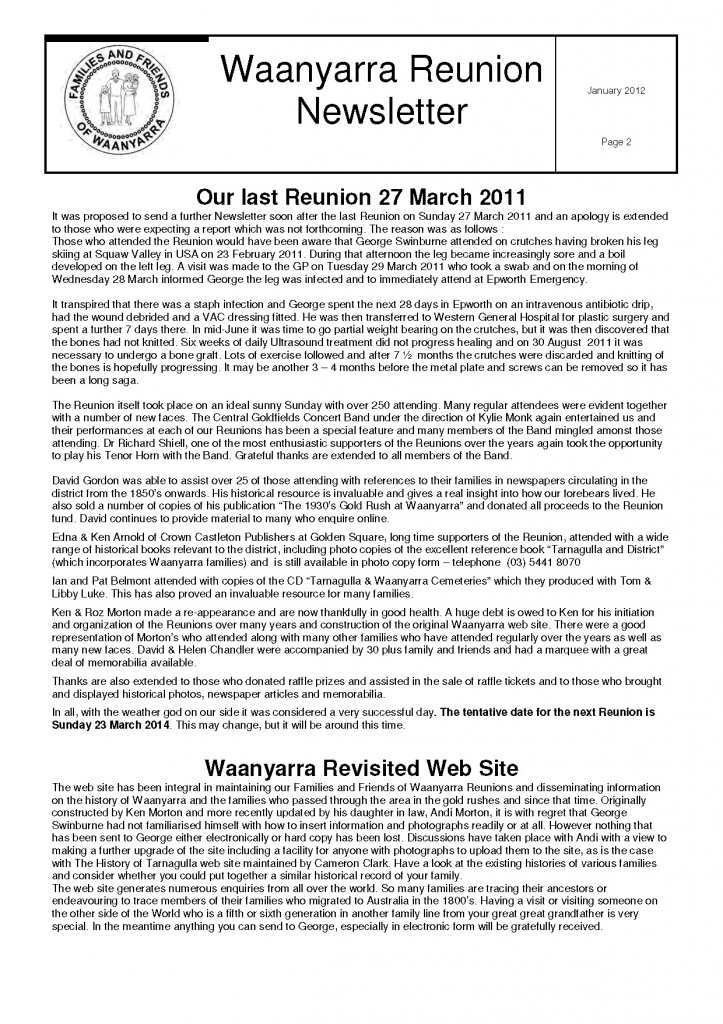 Waanyarra Reunion Newsletter January 2012lr_Page_2