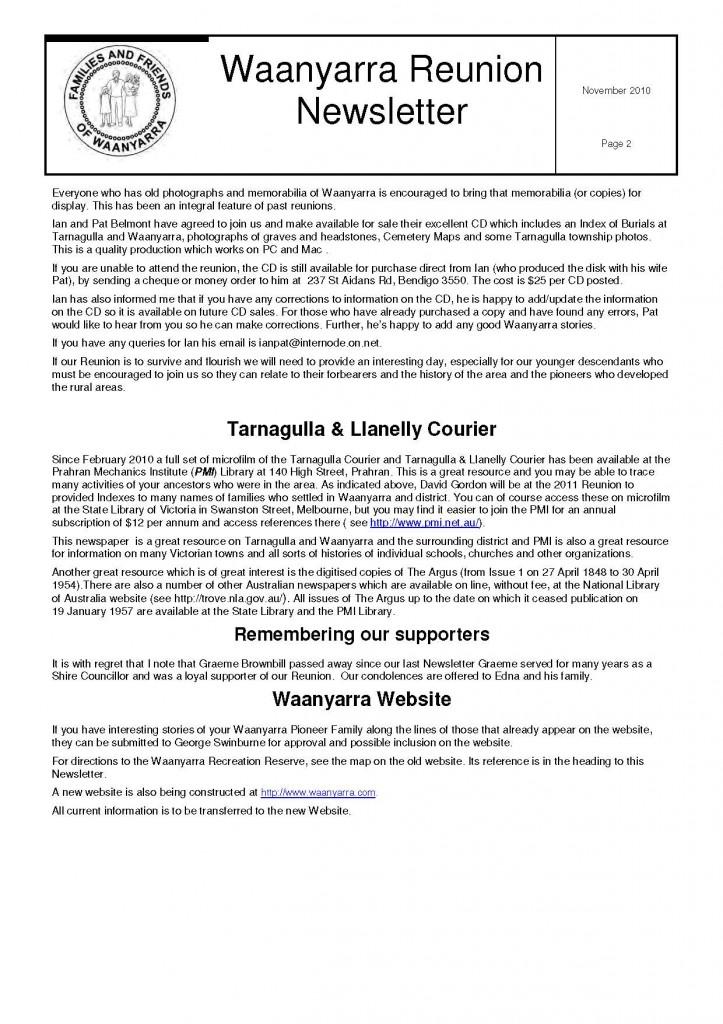 Waanyarra Reunion Newsletter November 2010lr_Page_2